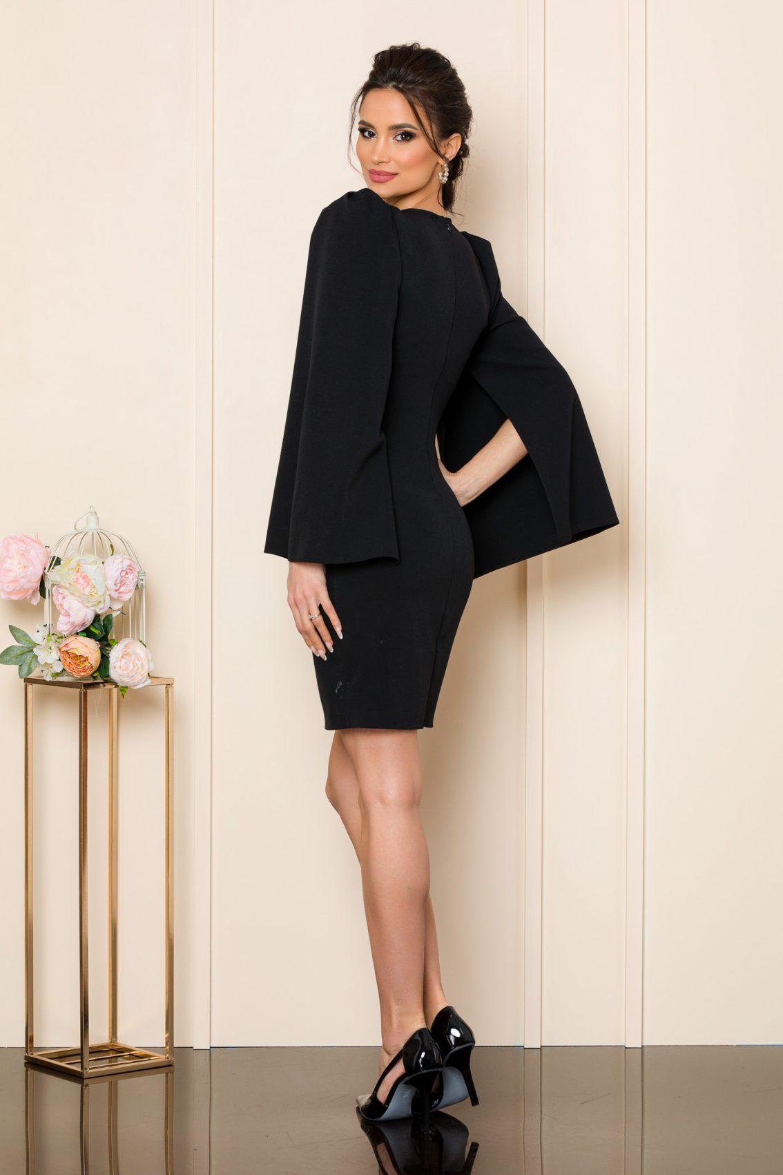 Μαύρο Μίνι Φόρεμα Dulce 9843 2