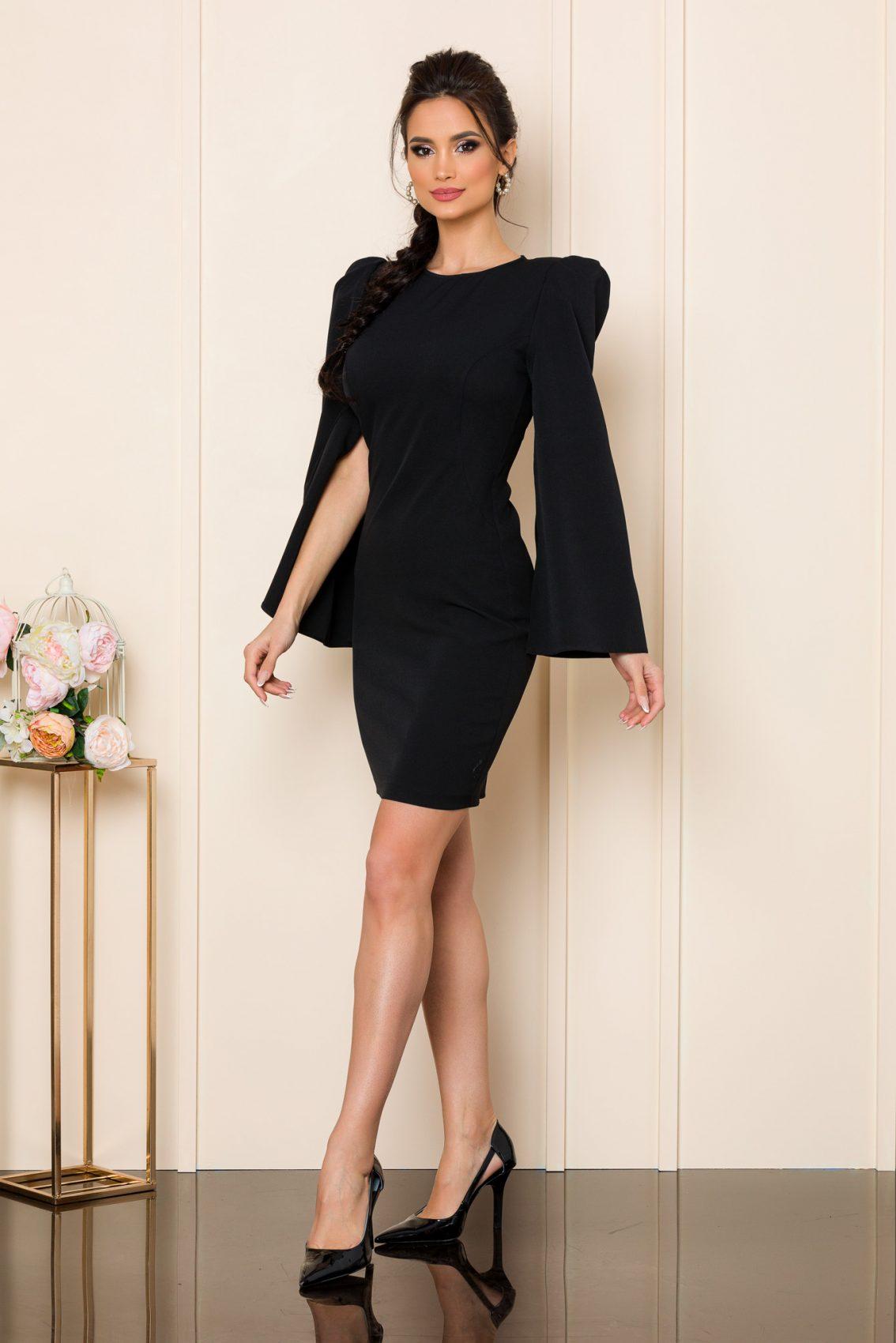 Μαύρο Μίνι Φόρεμα Dulce 9843 1