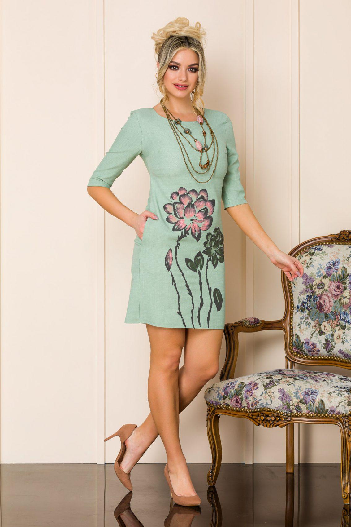 Βεραμάν Μίνι Φόρεμα Με Κολιέ Mona A128 1