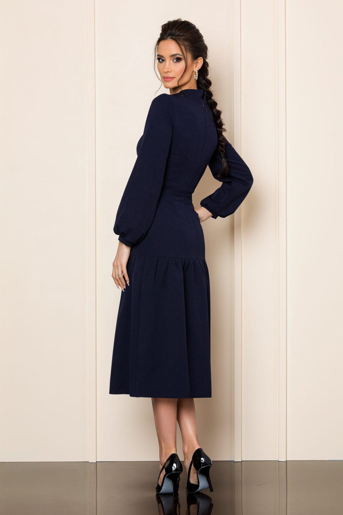 Μπλε Μίντι Φόρεμα Xonia 9832 2