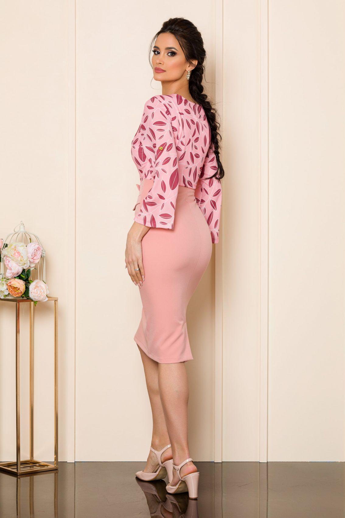 Ροζ Βραδινό Φόρεμα Anemarie 9841 2