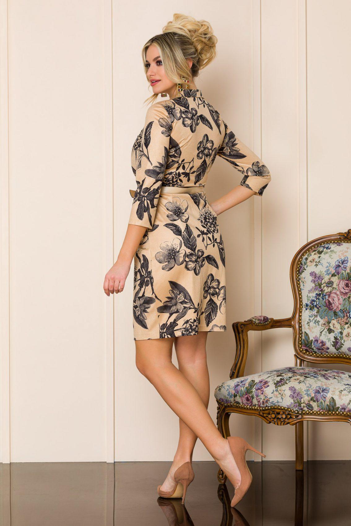 Καραμελέ Φλοράλ Φόρεμα Blaire 9932 2