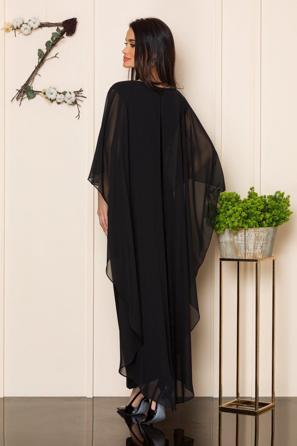 Μαύρο Μάξι Βραδινό Φόρεμα Amy 9863 2