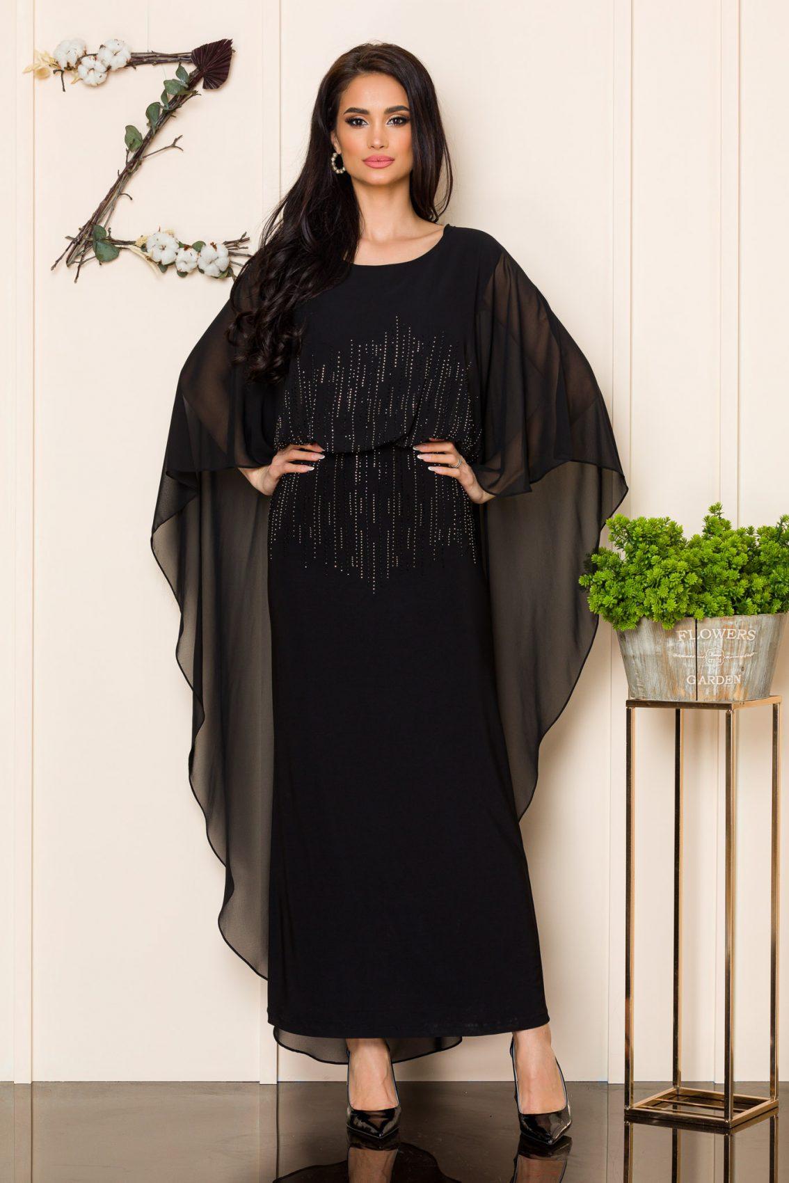 Μαύρο Μάξι Βραδινό Φόρεμα Amy 9863 1