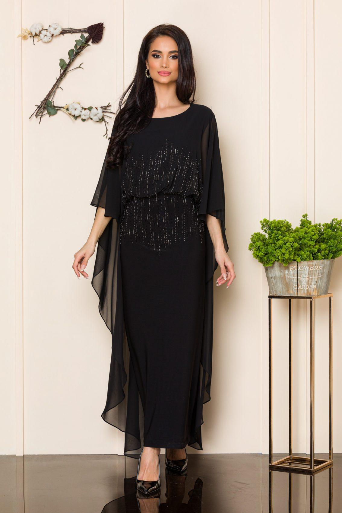 Μαύρο Μάξι Βραδινό Φόρεμα Amy 9863 3
