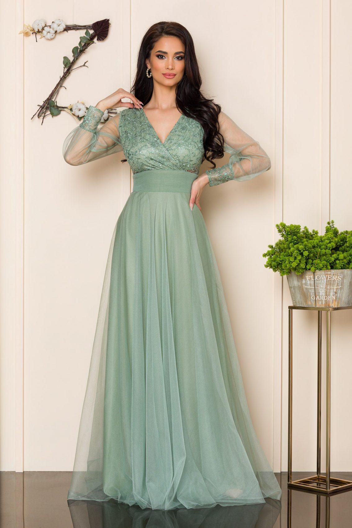 Βεραμάν Μάξι Φόρεμα Με Δαντέλα Dinasty 9917 1