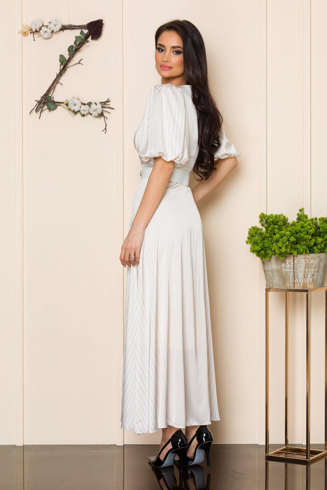 Nude Φόρεμα Με Ζώνη Soraya A116 2