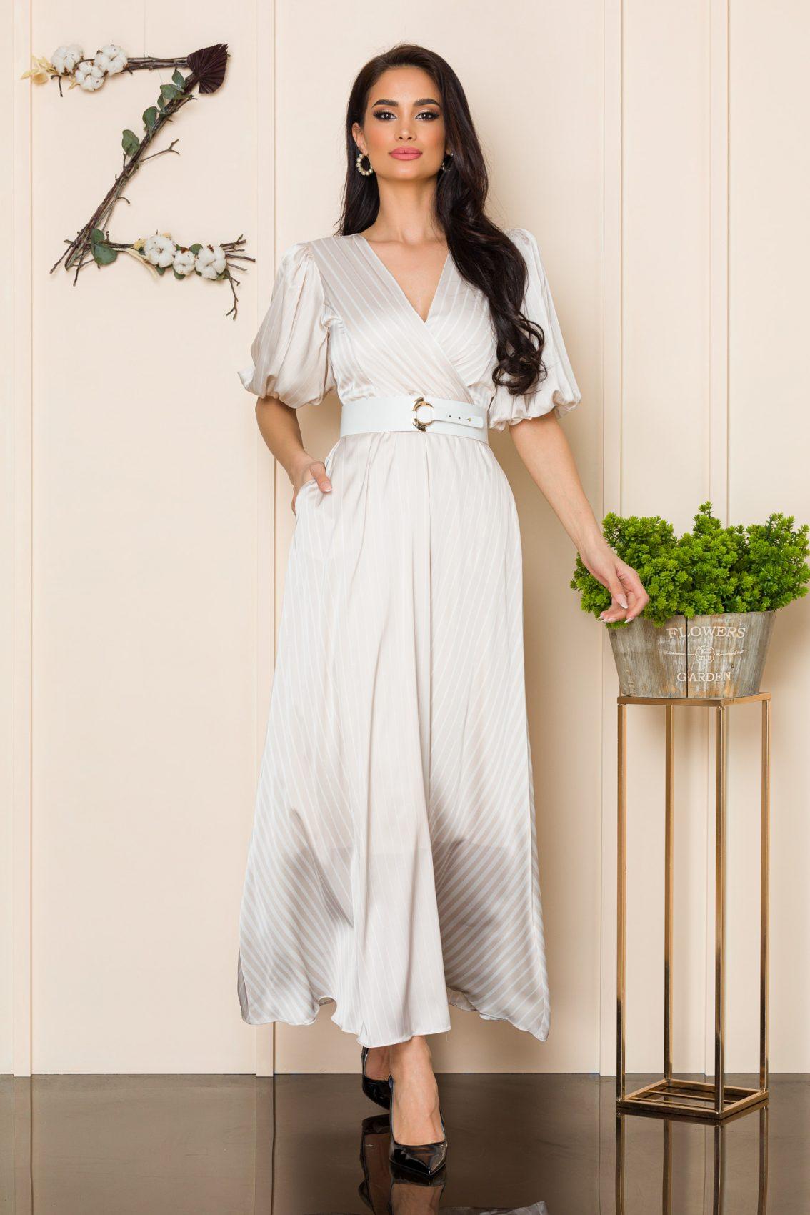 Nude Φόρεμα Με Ζώνη Soraya A116 1