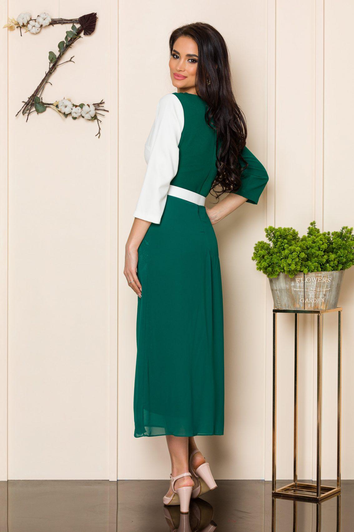 Πράσινο Φόρεμα Με Δαντέλα Nadya A180 2
