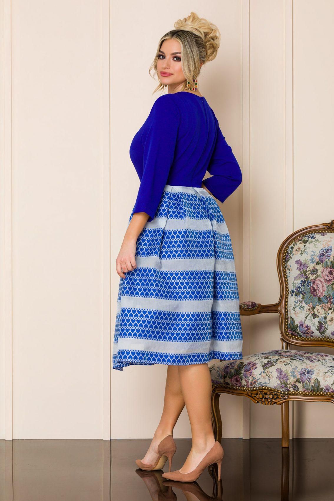 Μπλε Ρουά Μίντι Κλος Φόρεμα Eloise 9866 4