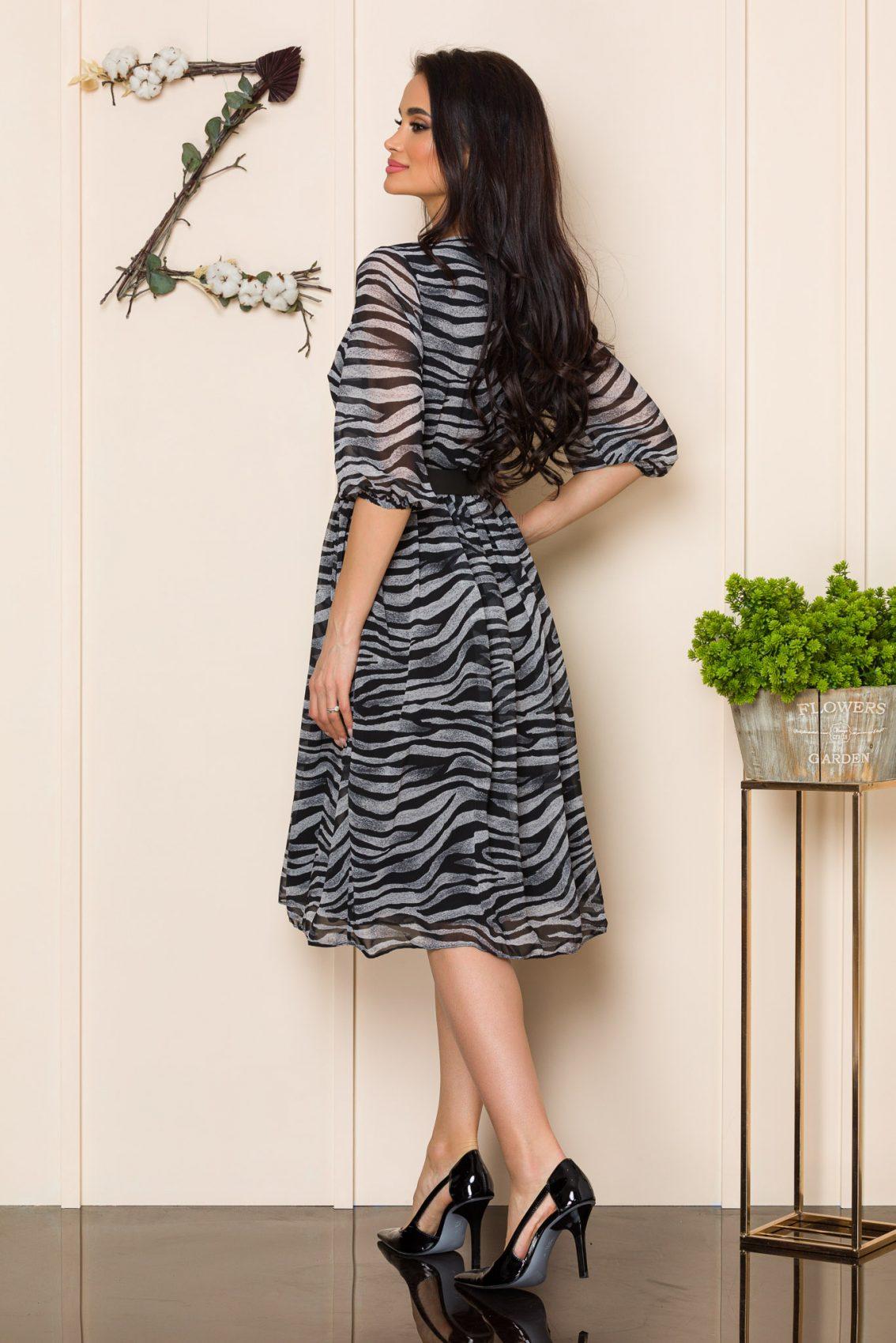 Μίντι Animal Print Φόρεμα Tonia 9860 2