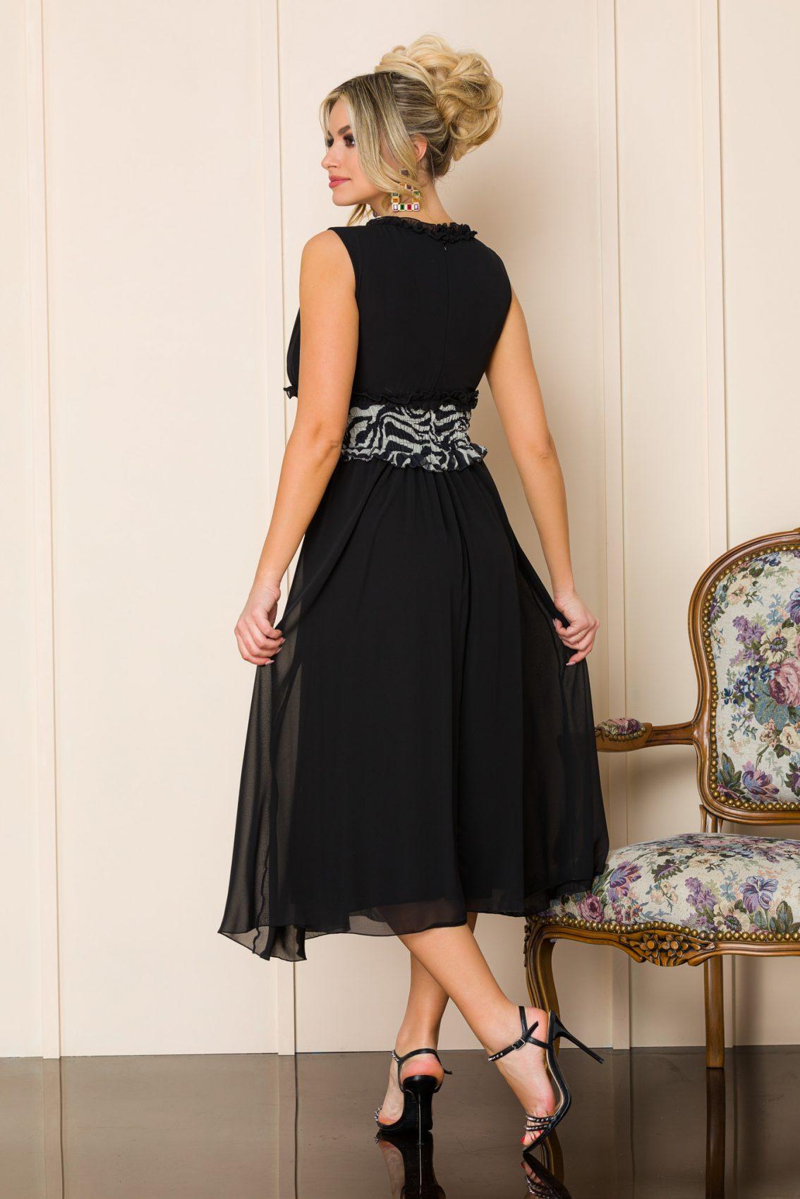 Μαύρο Αμάνικο Φόρεμα Imola 9870 2