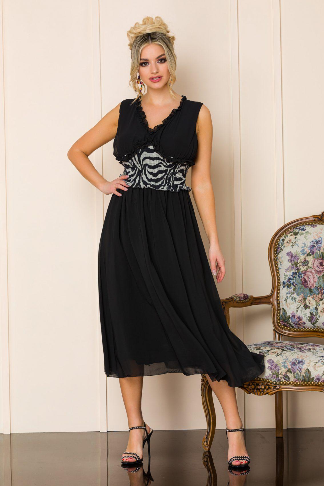 Μαύρο Αμάνικο Φόρεμα Imola 9870 1