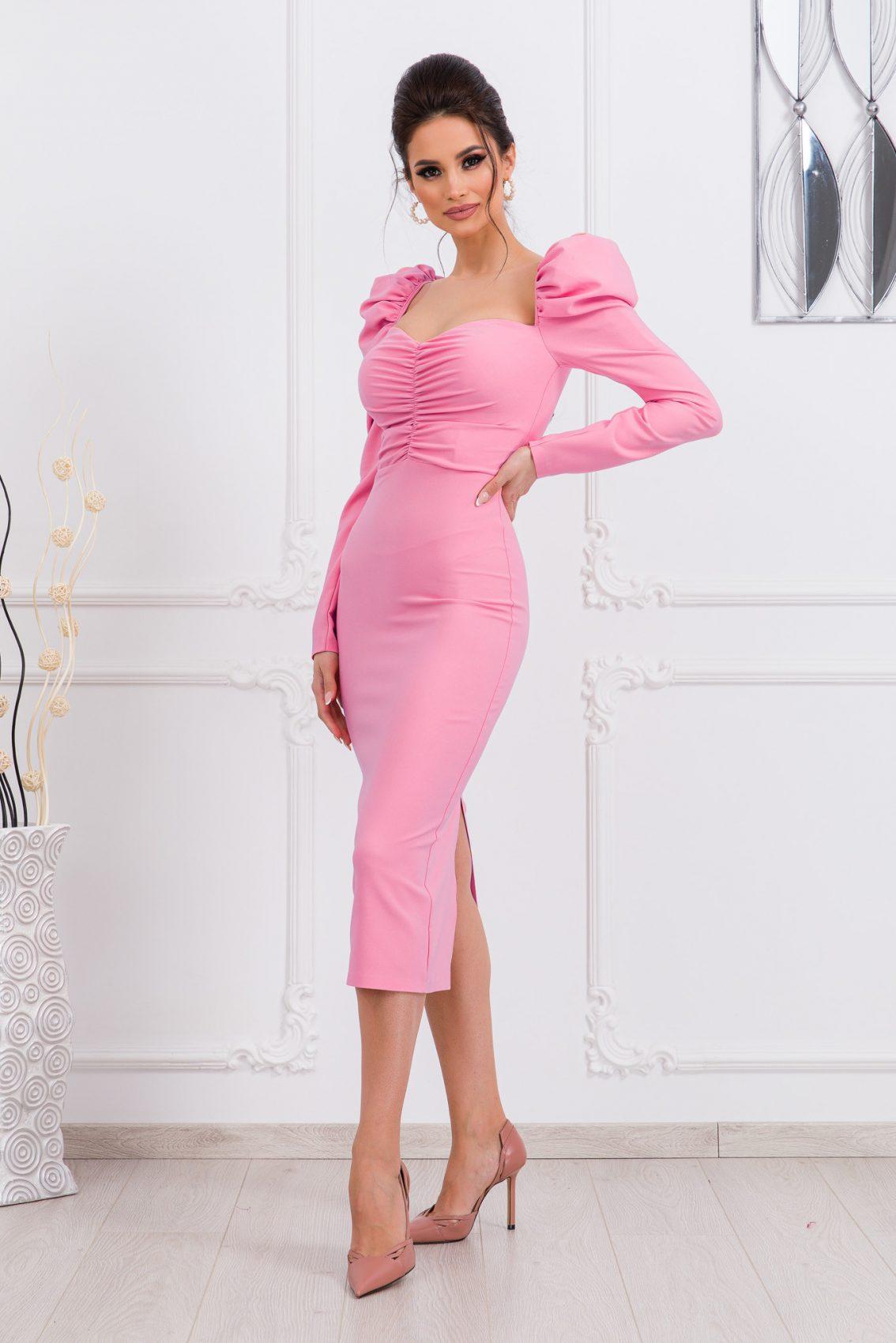 Μίντι Ροζ Φόρεμα Pandora 9794 1