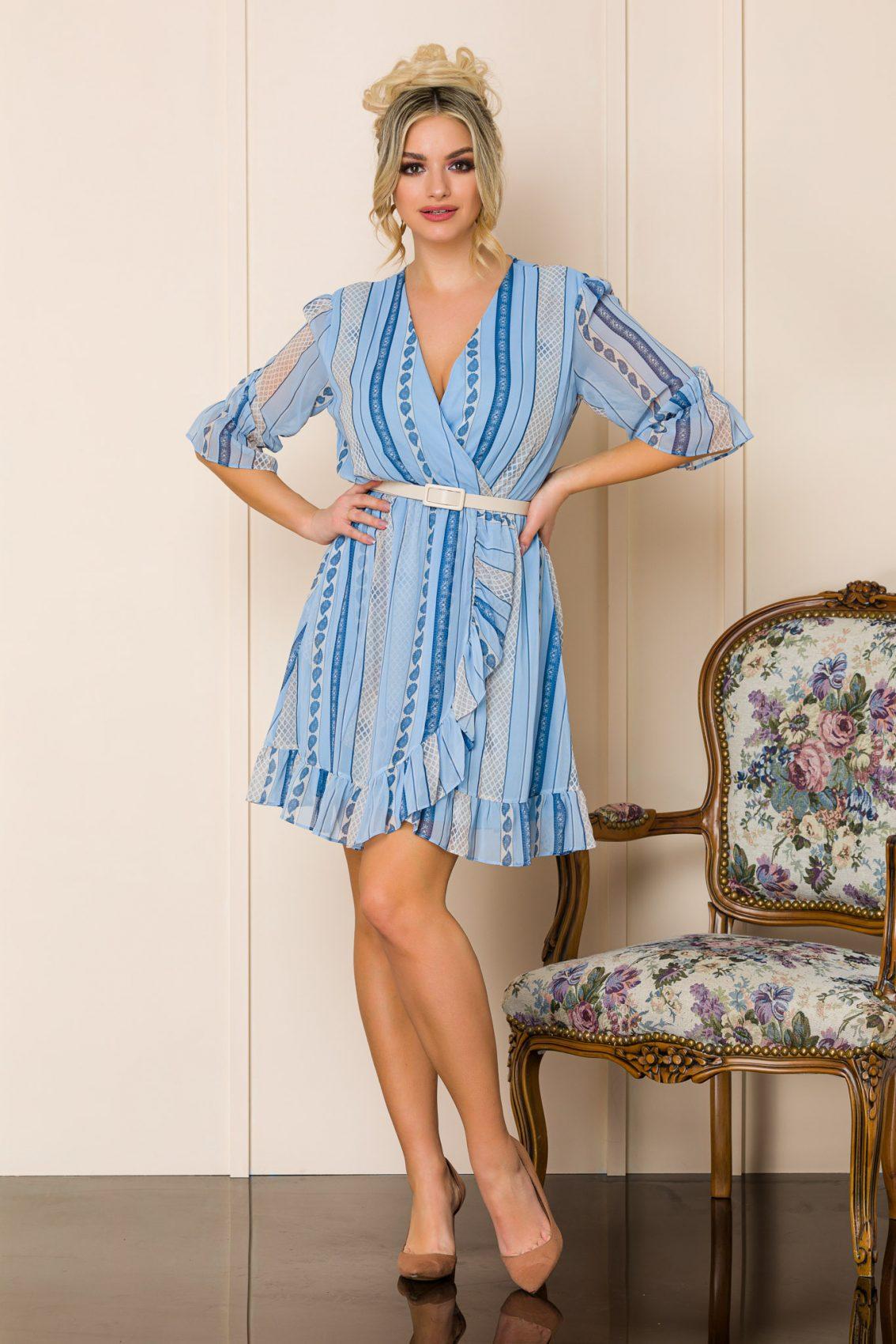 Μπλε Μίνι Φόρεμα Malinka A108 1