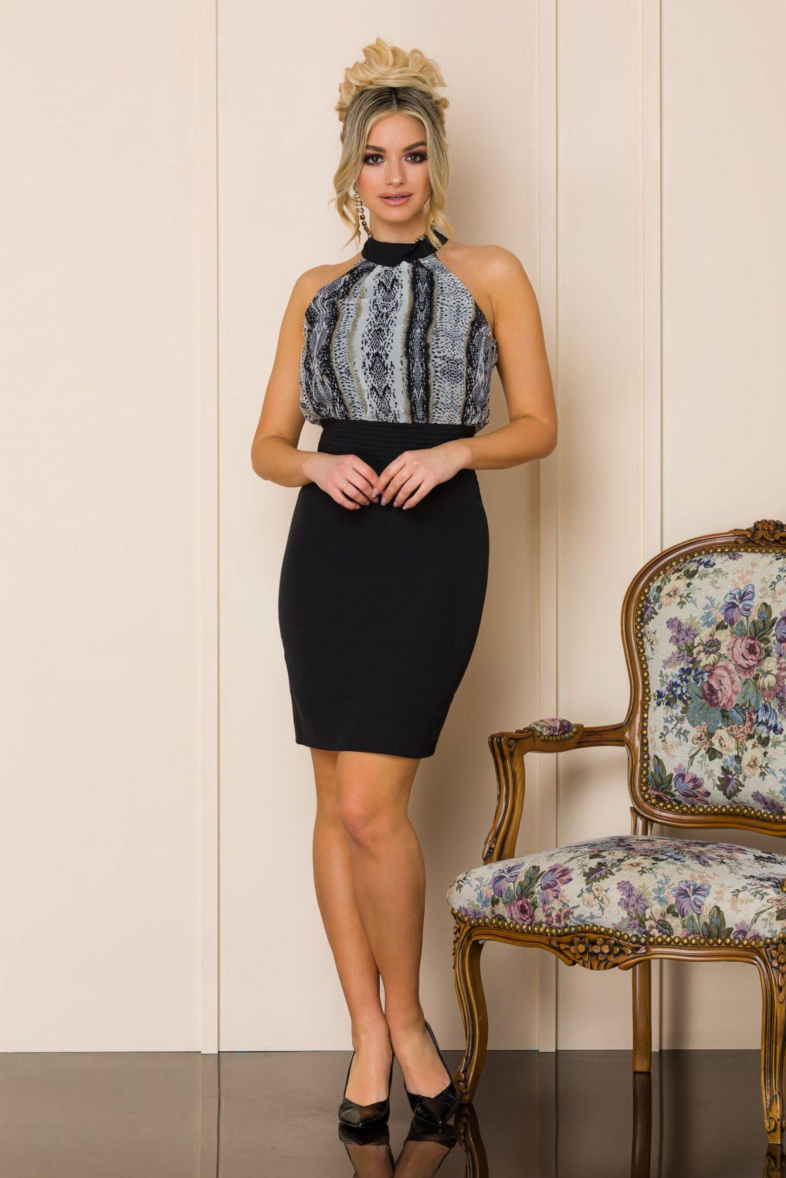 Μαύρο Μίνι Αμάνικο Φόρεμα Lexa 9937 1