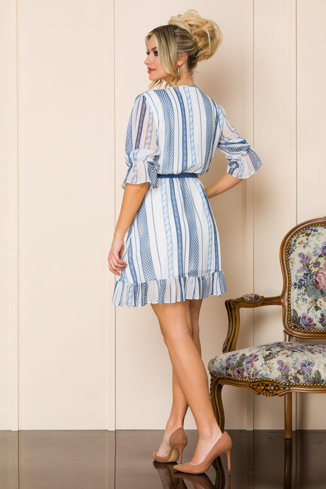 Λευκό Μίνι Φόρεμα Malinka A106 2