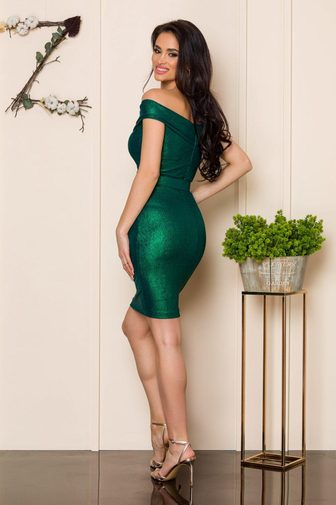 Πράσινο Αμπιγιέ Φόρεμα Sexxy A132 2