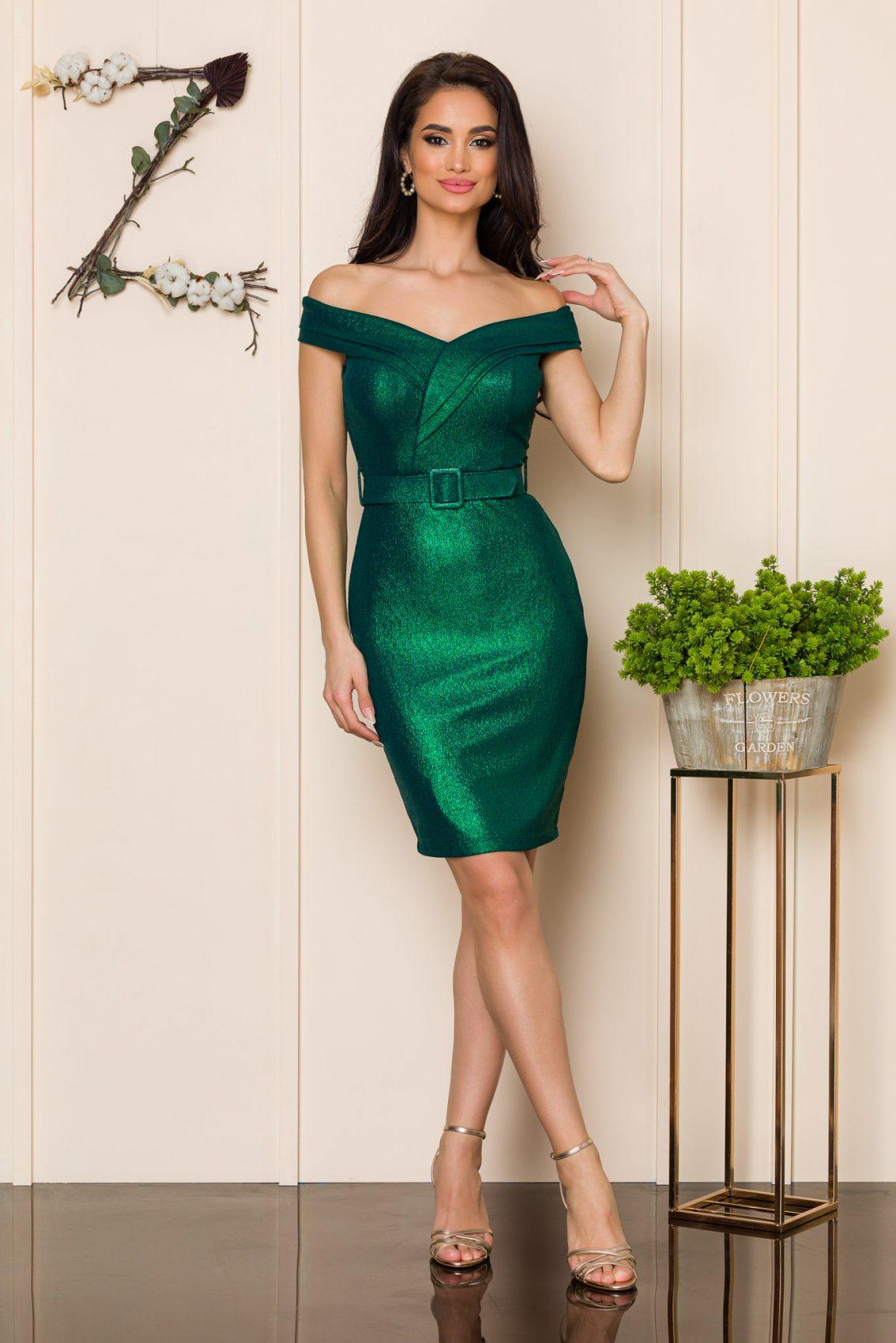 Πράσινο Αμπιγιέ Φόρεμα Sexxy A132 1