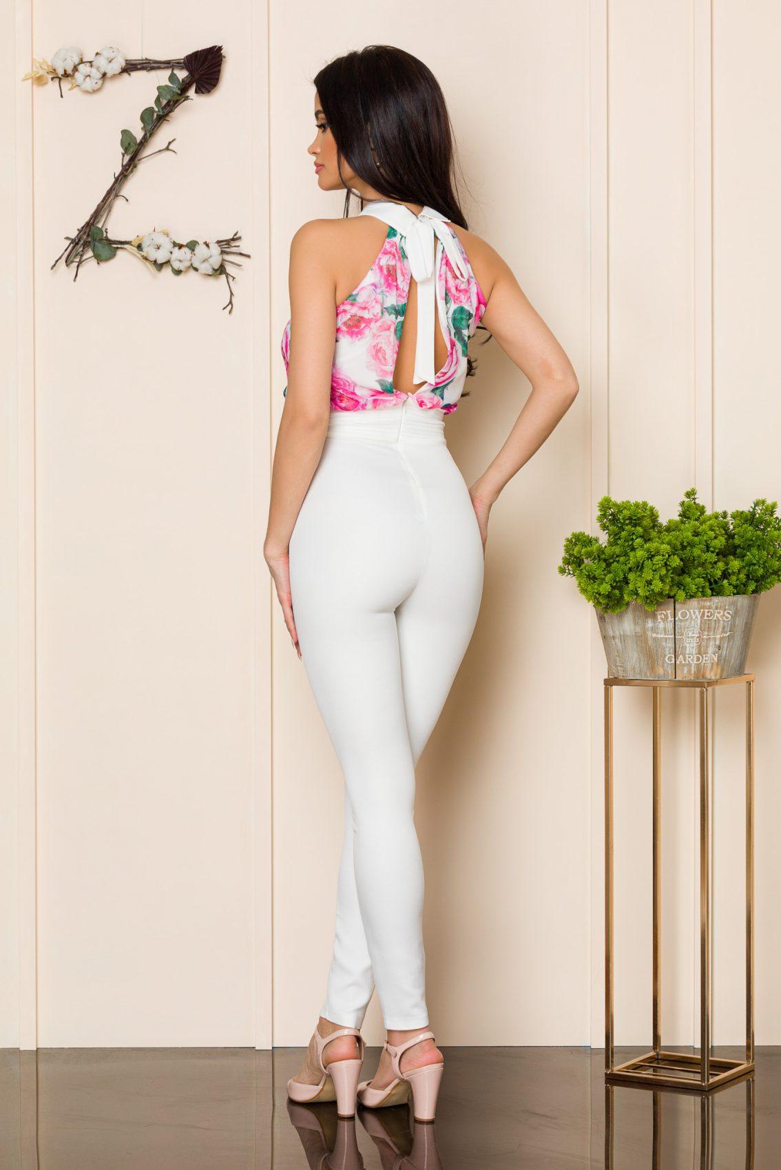 Λευκή Ολόσωμη Φλοράλ Φόρμα Filis A137 2