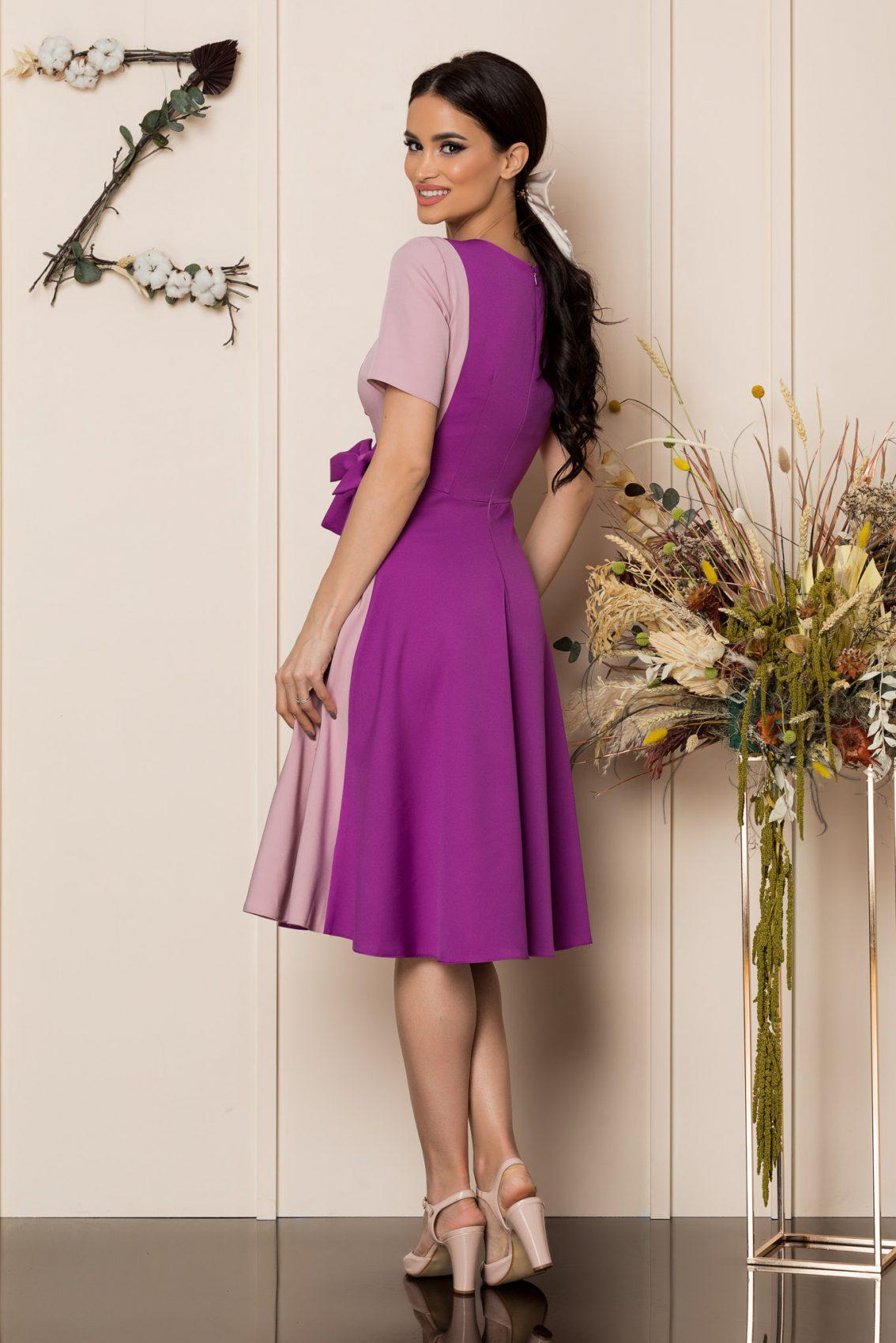 Βιολετί Μίντι Κλος Φόρεμα Hazel A211 2