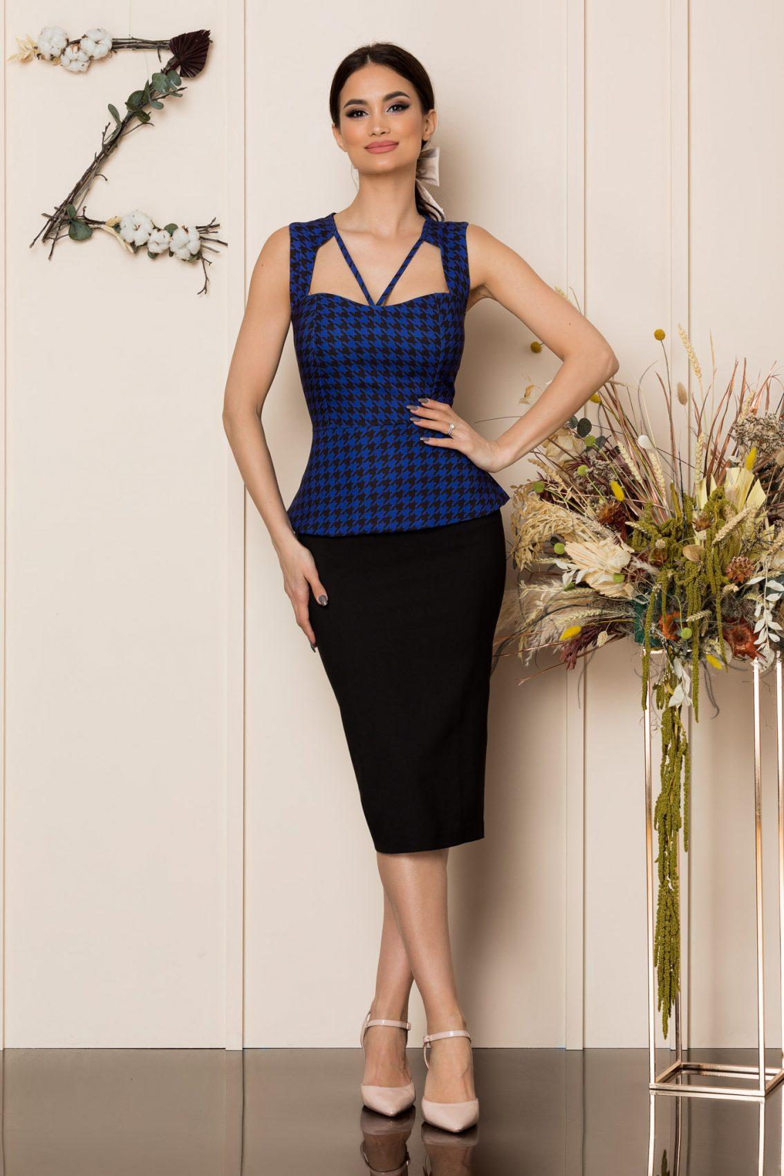 Μαύρο Μίντι Φόρεμα Dya 8907 1