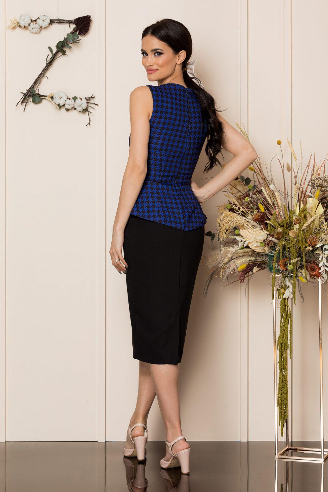 Μαύρο Μίντι Φόρεμα Dya 8907 2