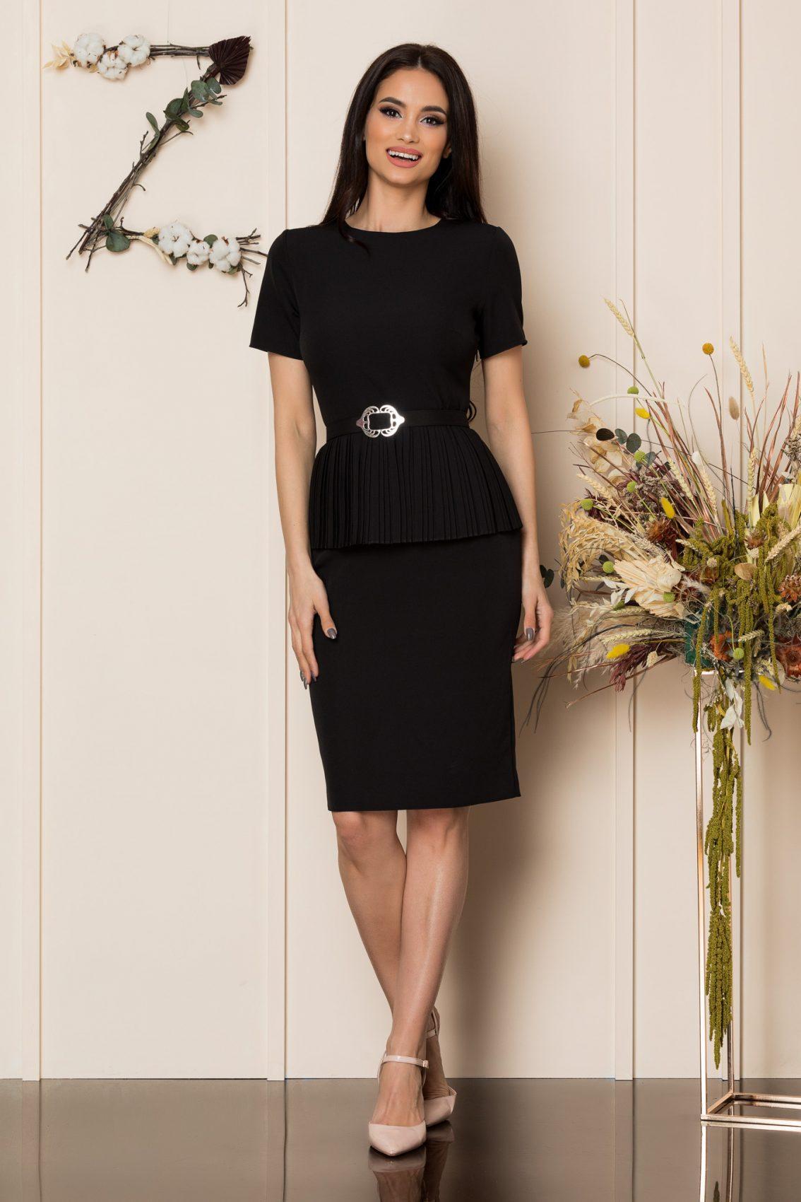 Μαύρο Μίντι Φόρεμα Karola 9423 1