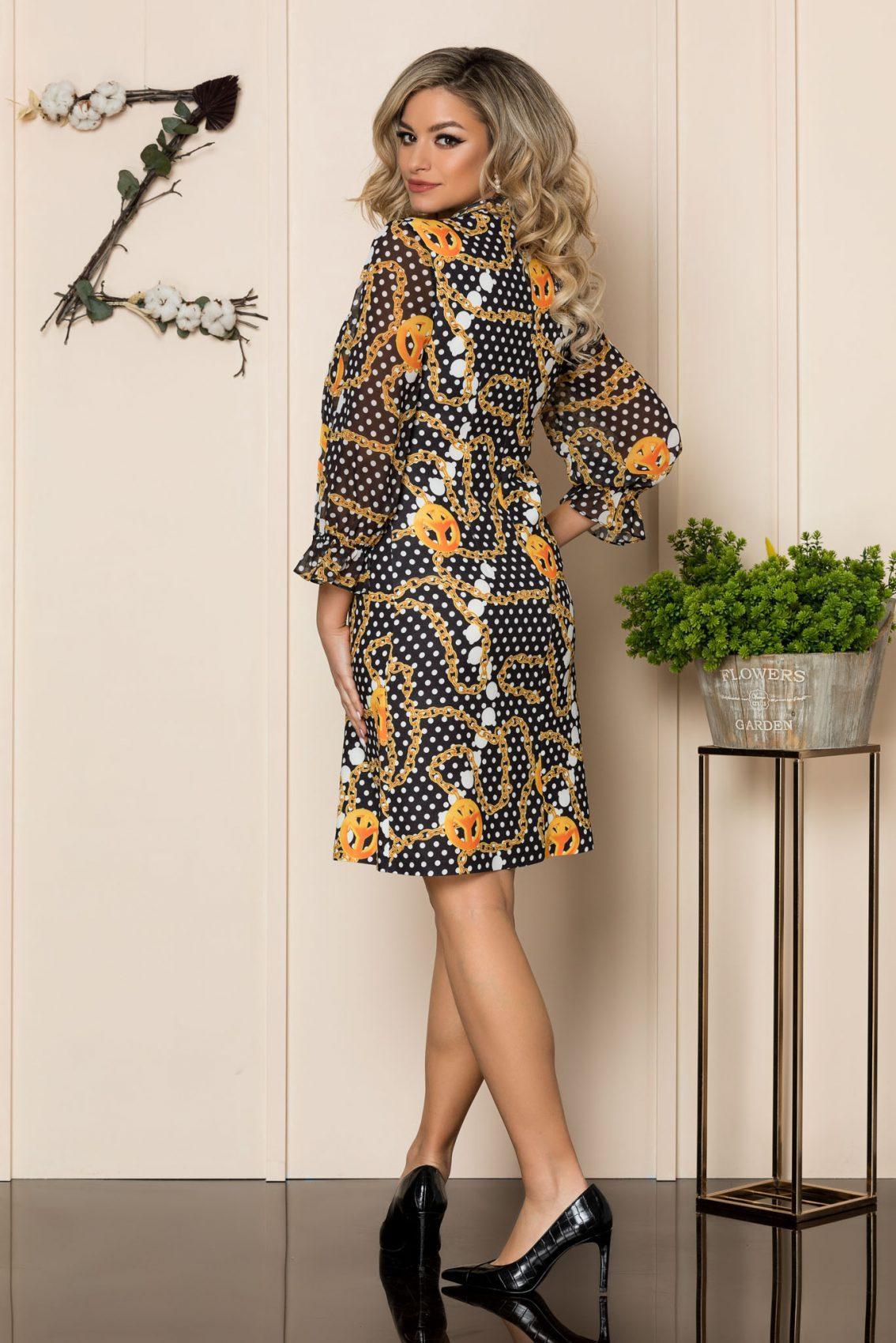 Εμπριμέ Φόρεμα Με Φιόγκο Giuliana 1068 2