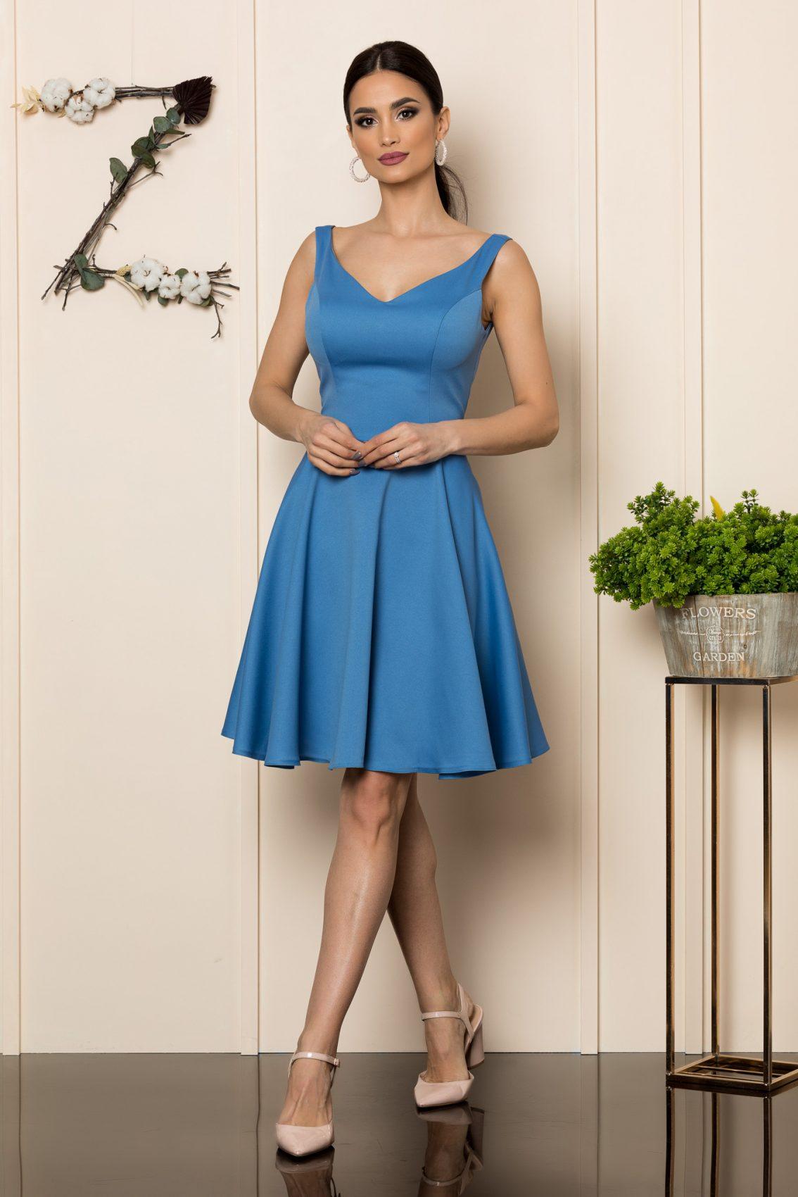 Μπλε Αμάνικο Φόρεμα Querida 9875 1