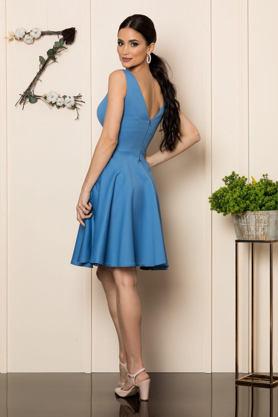 Μπλε Αμάνικο Φόρεμα Querida 9875 2