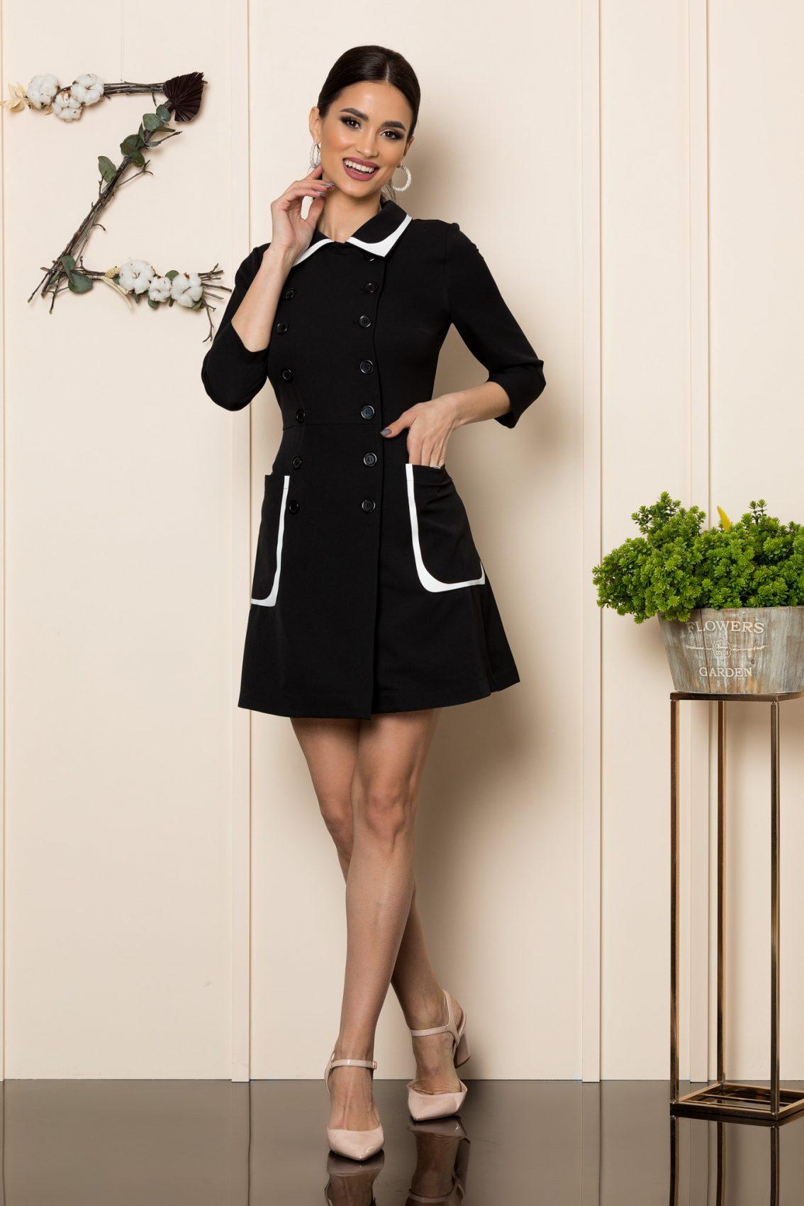 Μαύρο Μίνι Φόρεμα Alorra 1134 1