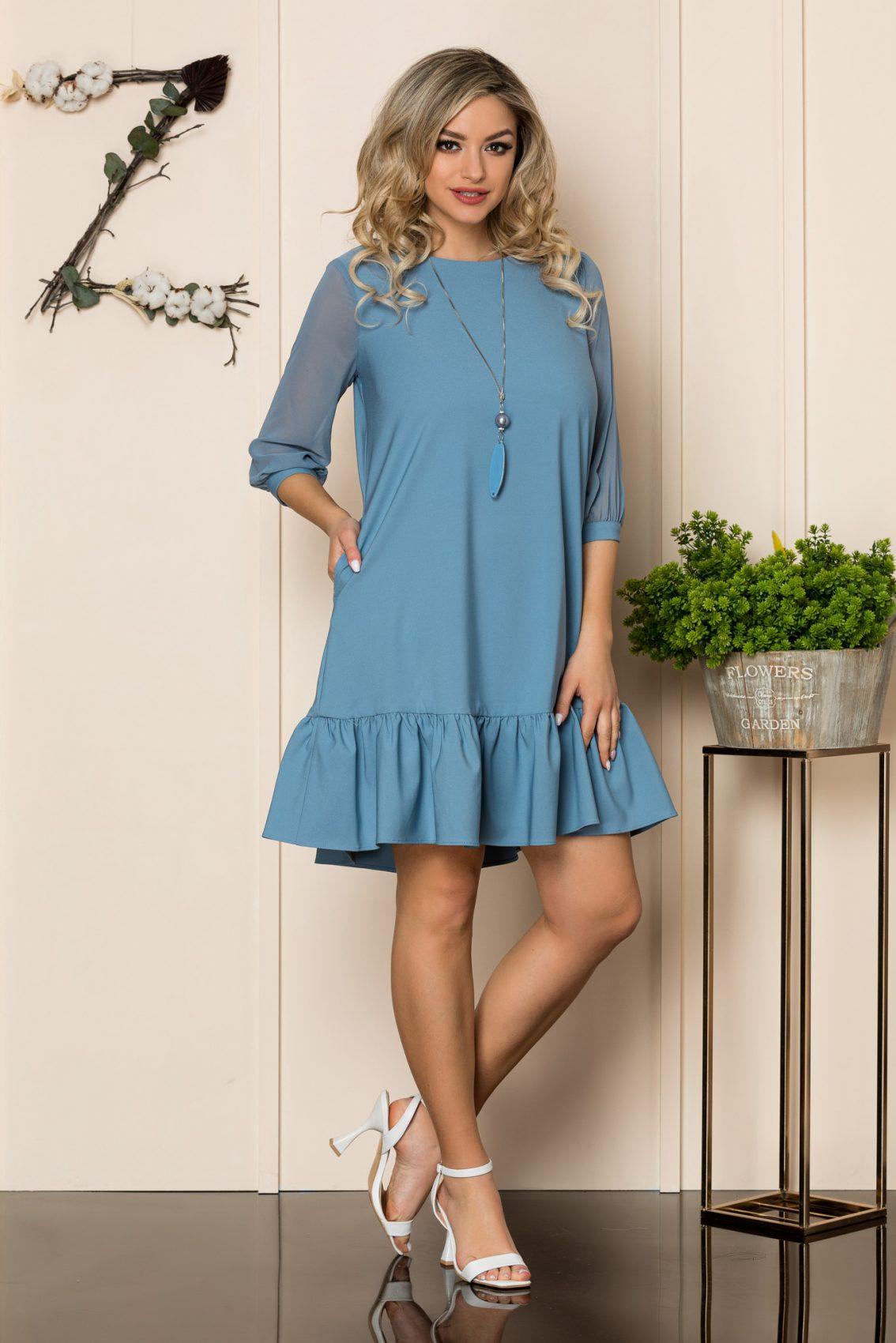 Μπλε Φόρεμα Με Κολιέ Irine 1035 1