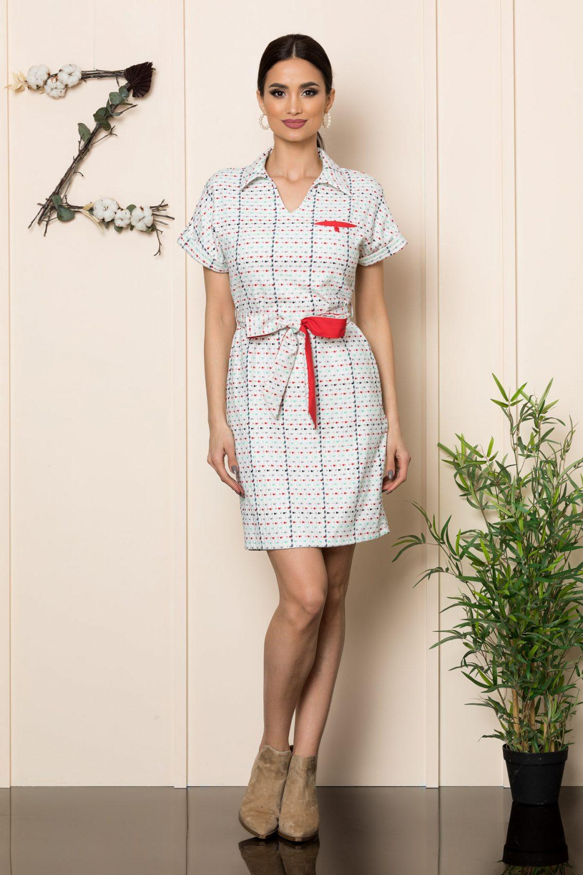 Λευκό Καθημερινό Φόρεμα Janelle 9892 4