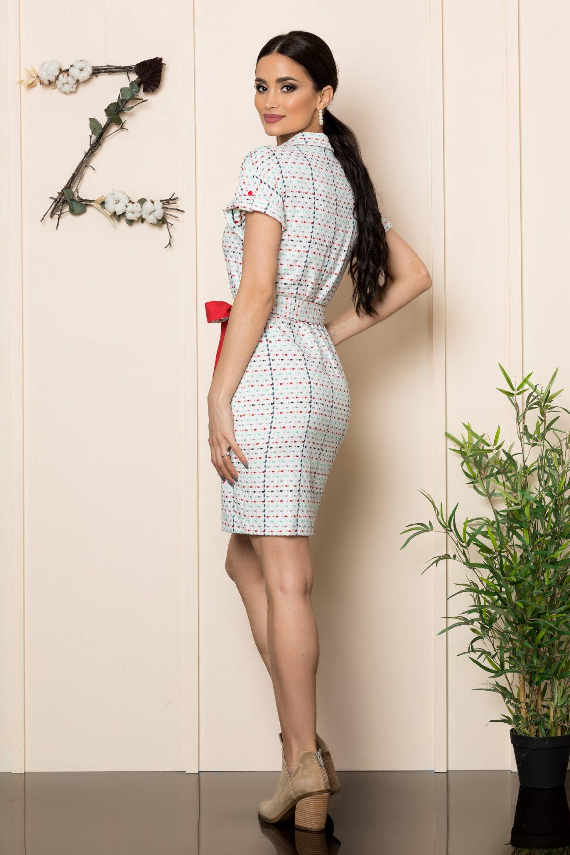 Λευκό Καθημερινό Φόρεμα Janelle 9892 5
