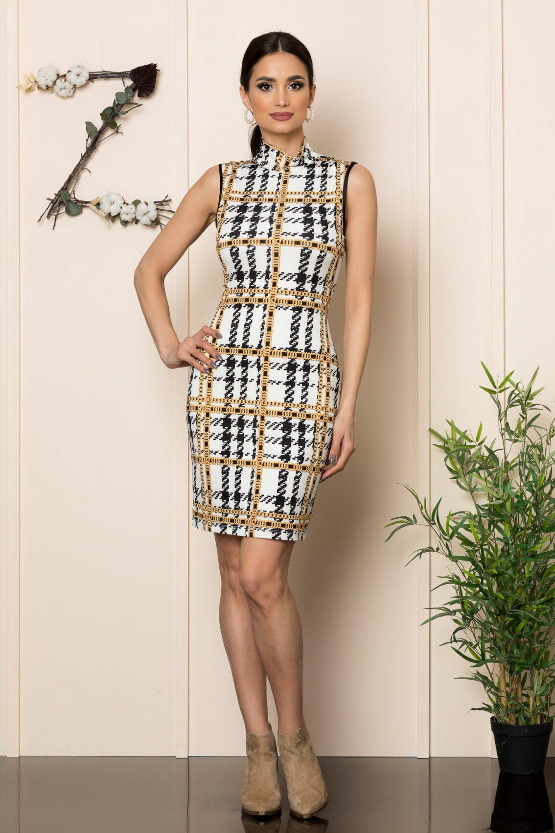 Αμάνικο Εμπριμέ Φόρεμα Tamya 1095 1