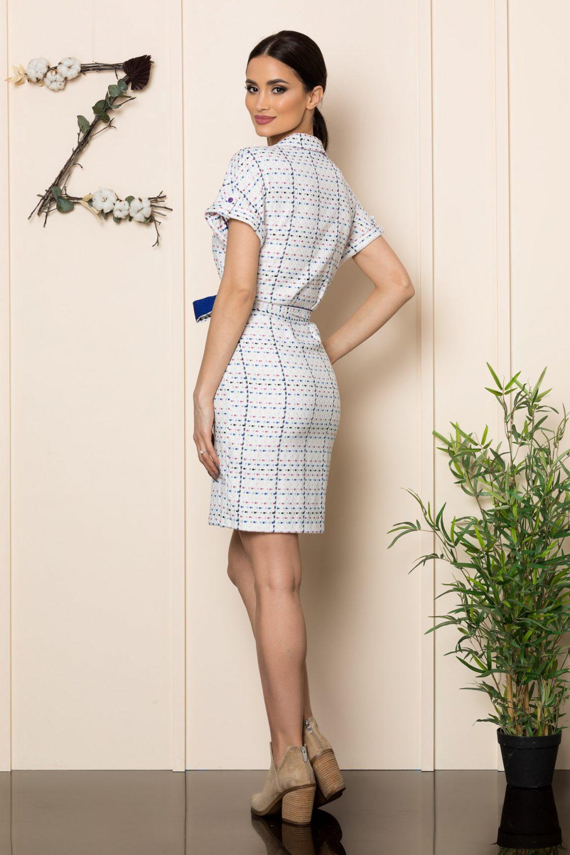 Καθημερινό Λευκό Φόρεμα Janelle 9893 2