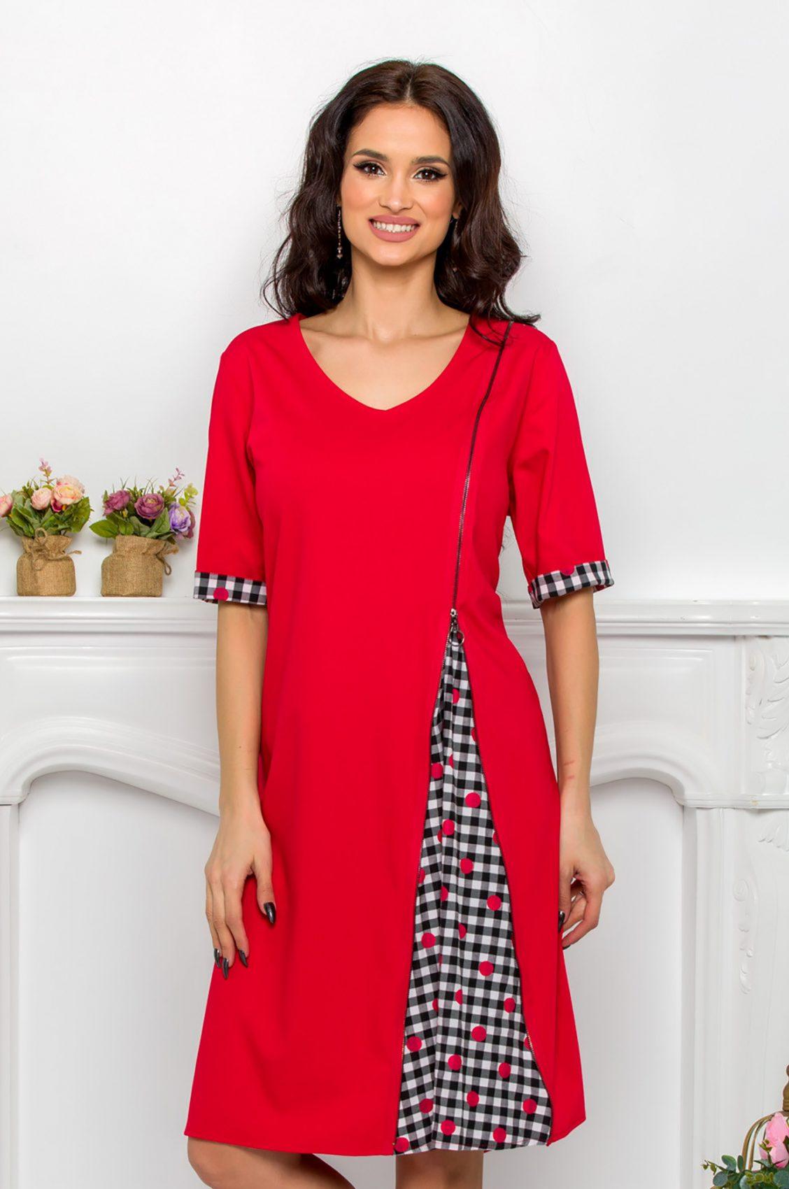 Μαύρο Φόρεμα Plus Size Ydda 9542 4