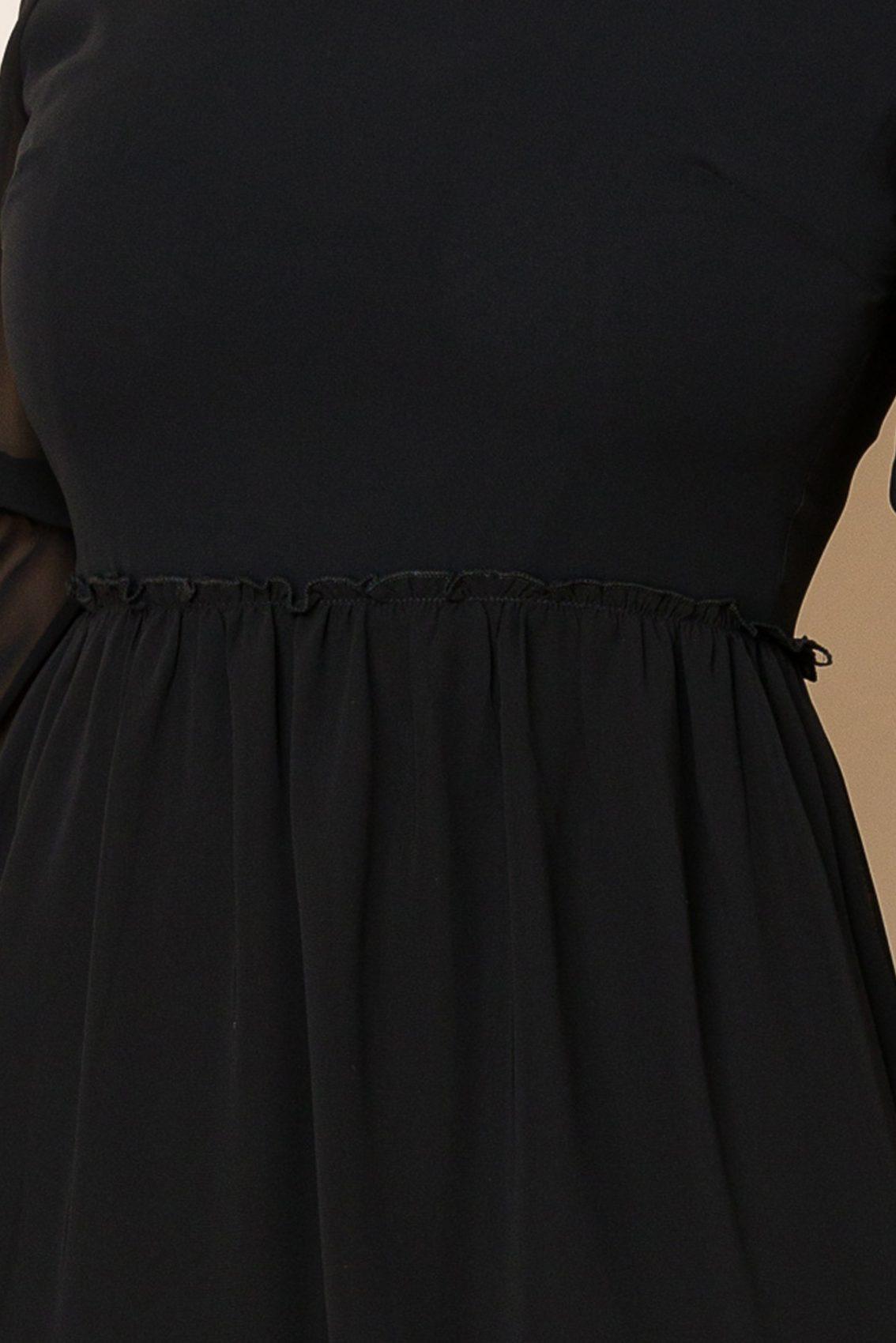 Μαύρο Μίνι Φόρεμα Hermina 9936 3