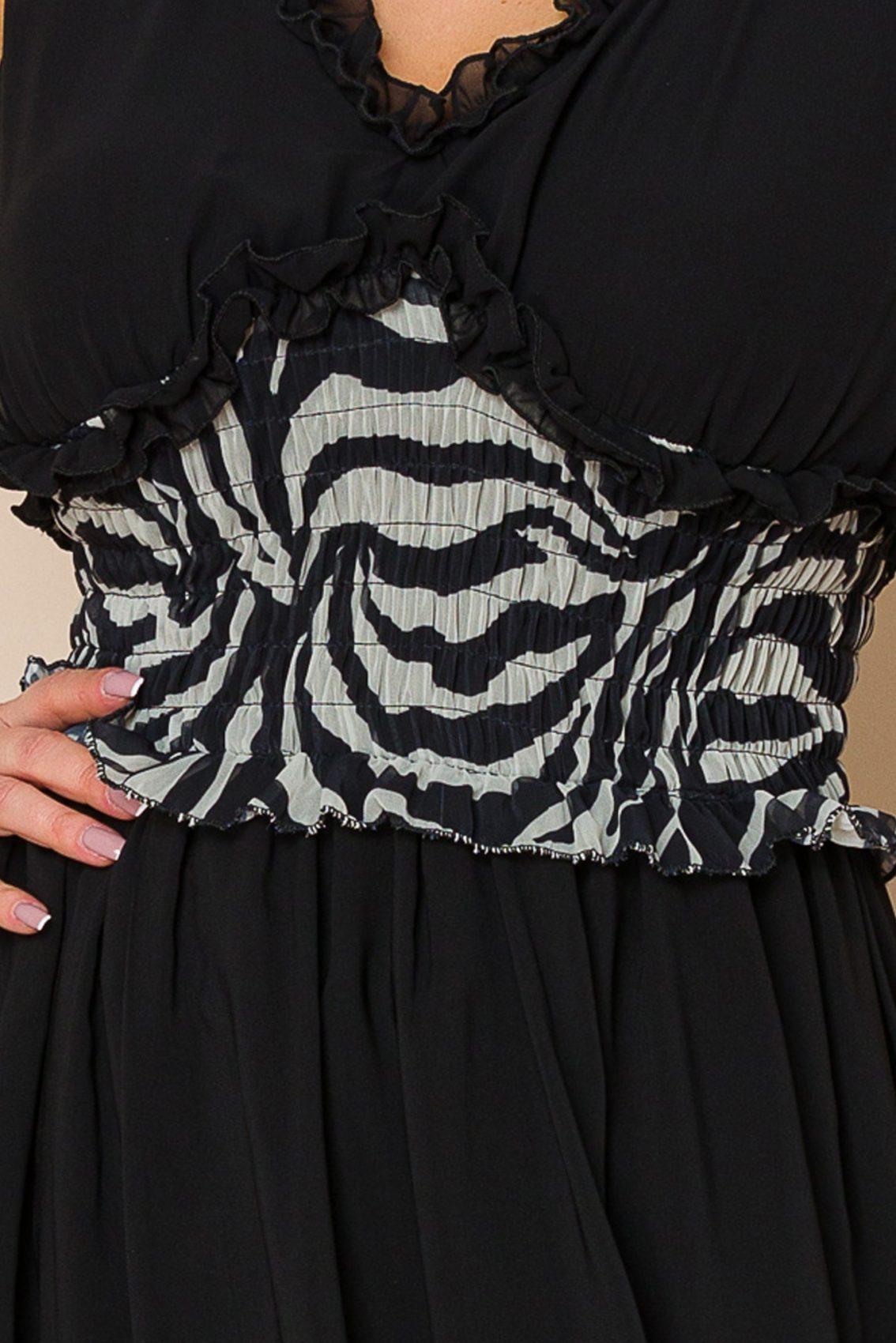 Μαύρο Αμάνικο Φόρεμα Imola 9870 3