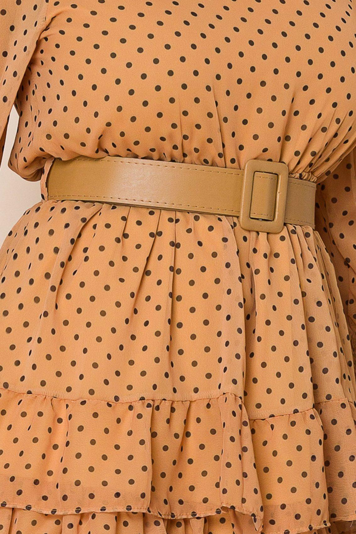 Ταμπά Πουά Φόρεμα Με Βολάν Tanya 9933 3