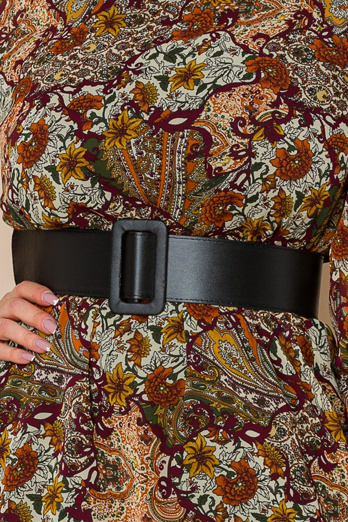 Εμπριμέ Φόρεμα Με Δαντέλα Tracey A186 3