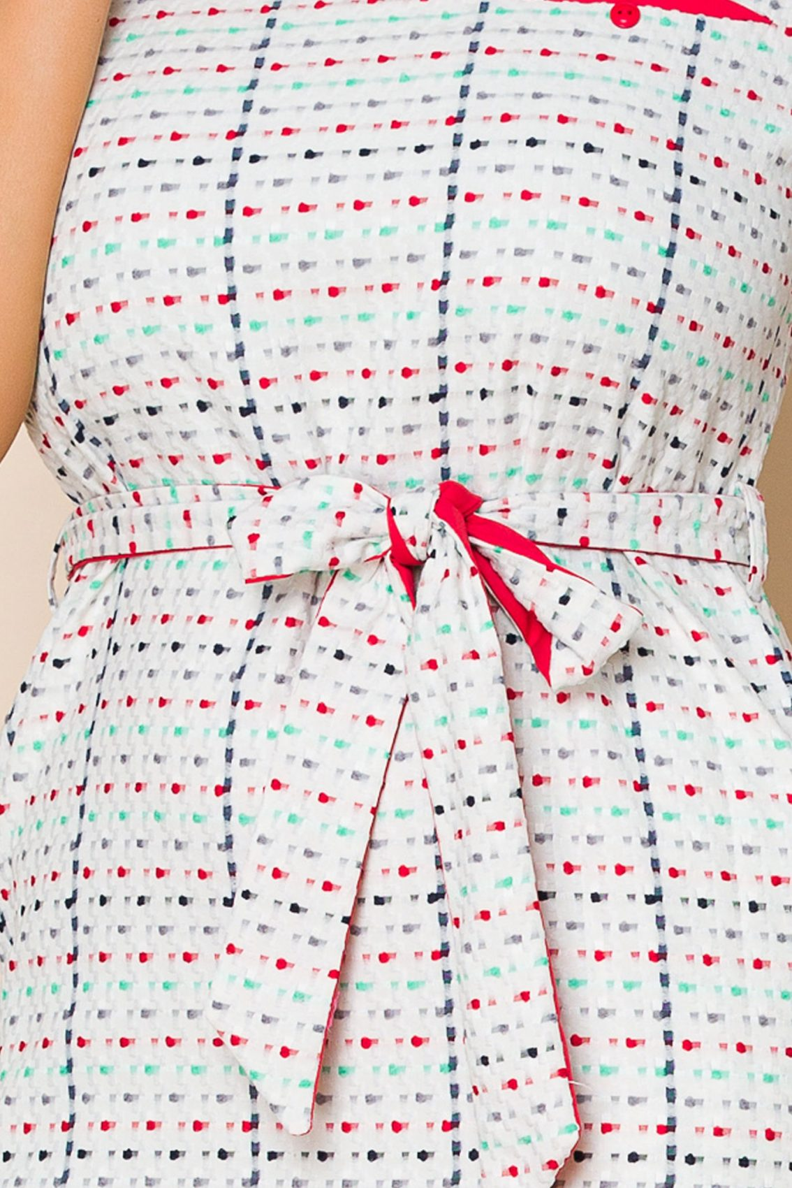 Λευκό Καθημερινό Φόρεμα Janelle 9892 3
