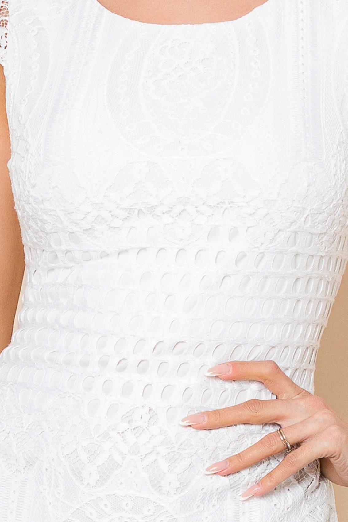 Λευκό Φόρεμα Από Δαντέλα Lyana 8029 3