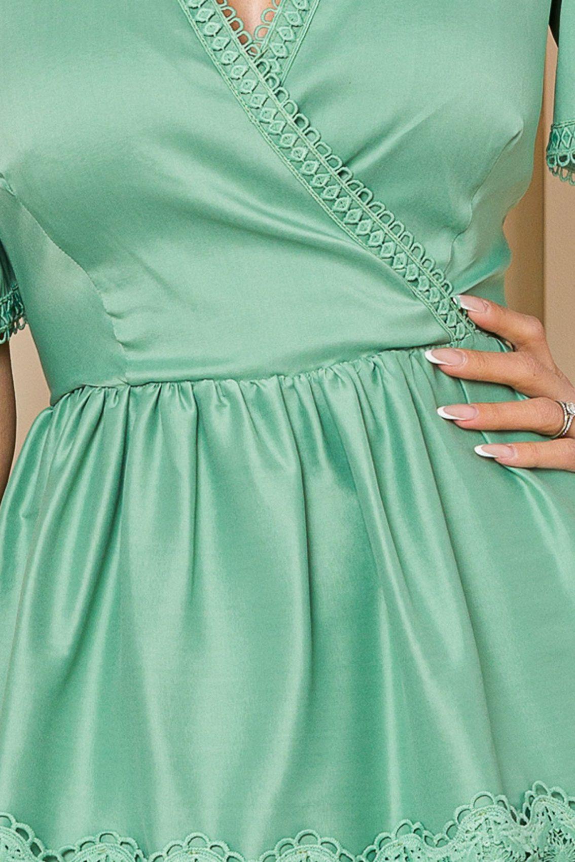 Πράσινο Φόρεμα Με Δαντέλα Katie 9846 3