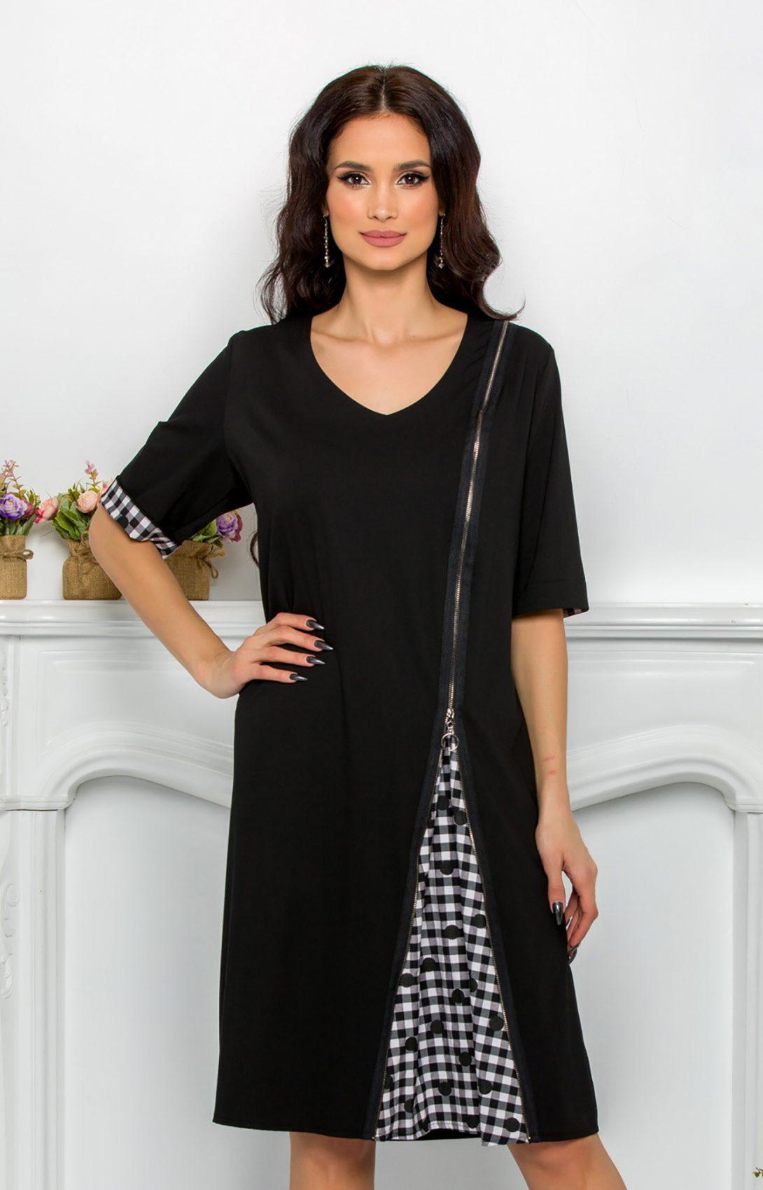Μαύρο Φόρεμα Plus Size Ydda 9542 1
