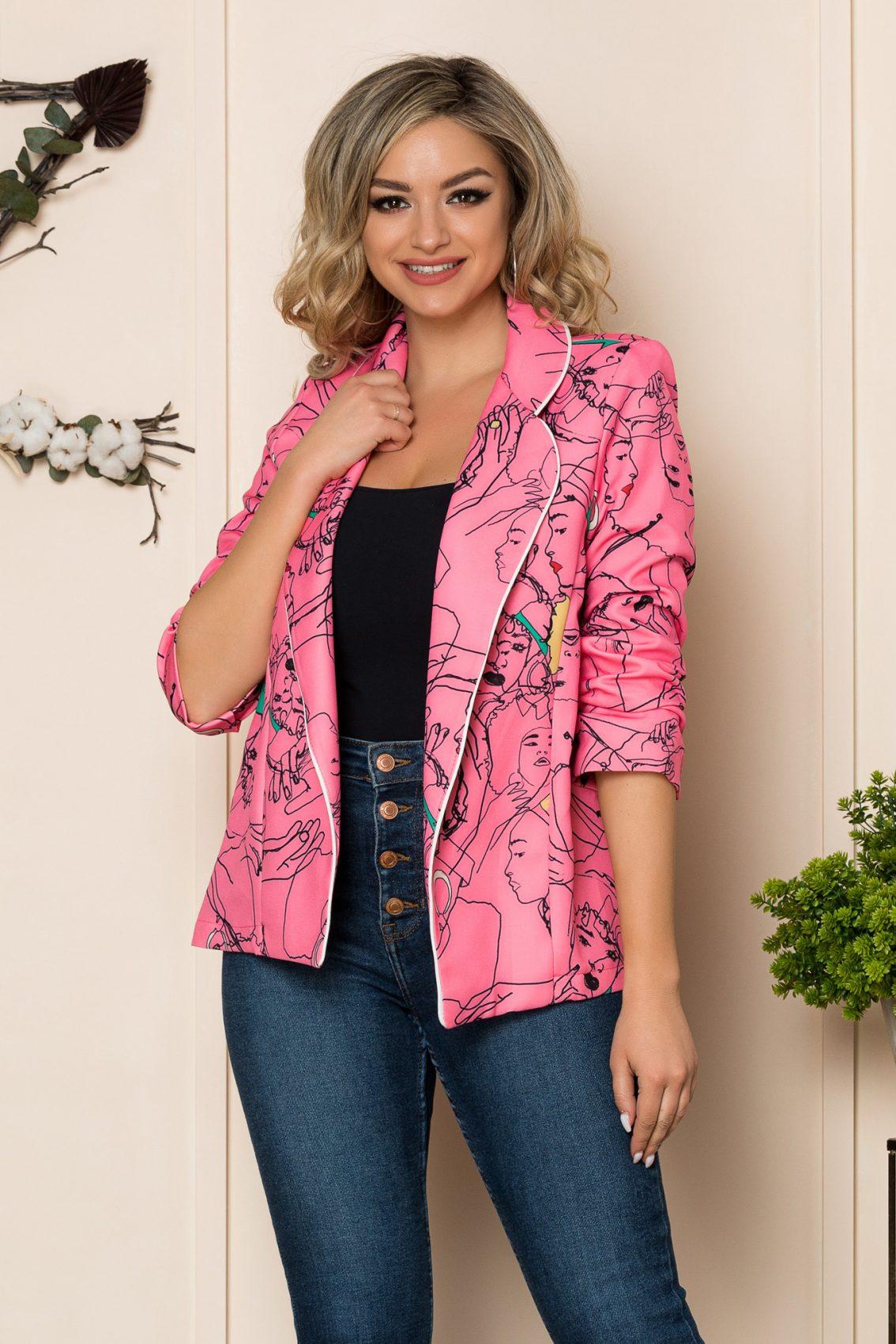 Ροζ Σακάκι Klass 1031 1