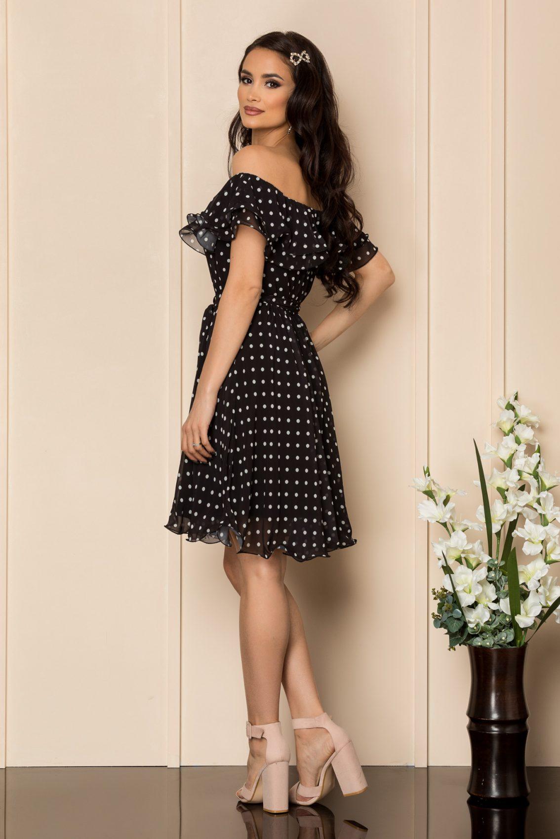 Μαύρο Πουά Φόρεμα Beatrice A425 2