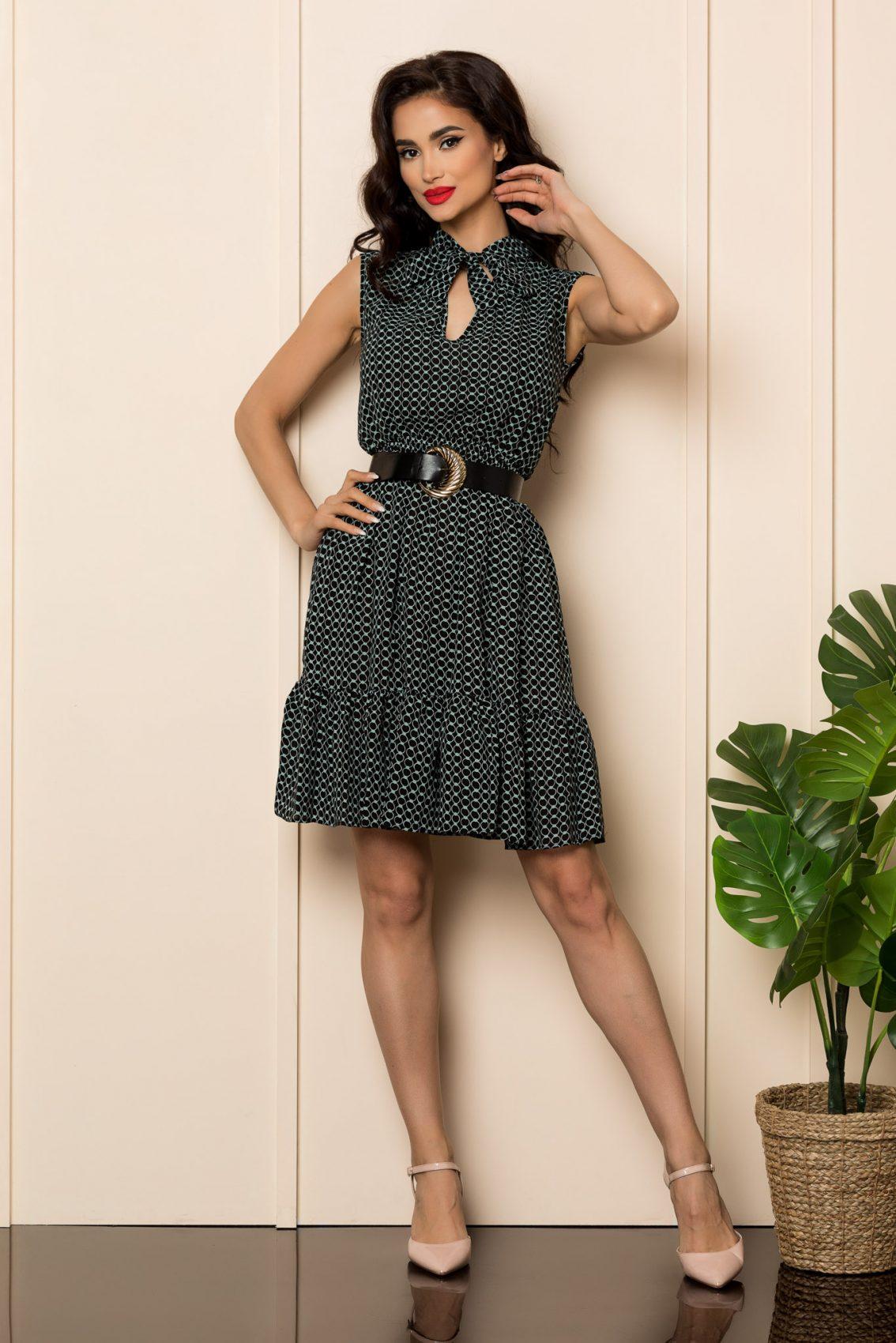 Φόρεμα Με Βολάν Και Ζώνη Lara 7702 1