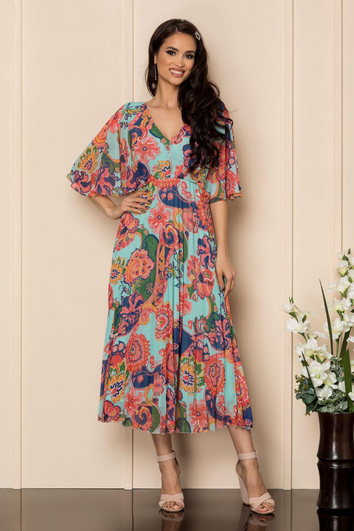 Εμπριμέ Φόρεμα Με Κλος Μανίκι Bonita A354 1